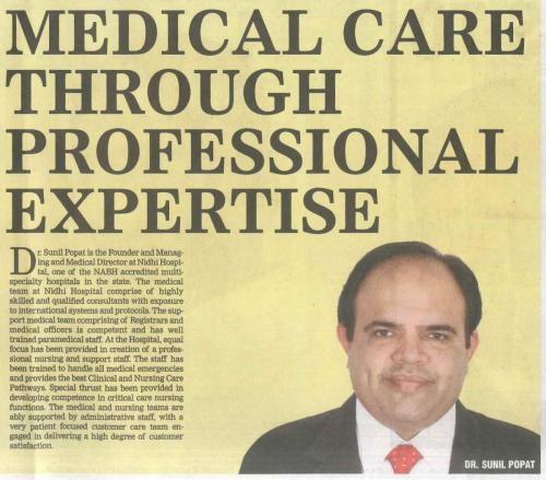 The Times of India (Health Icons 2018) Dr Sunil Popat 30.09.18 Pg 03